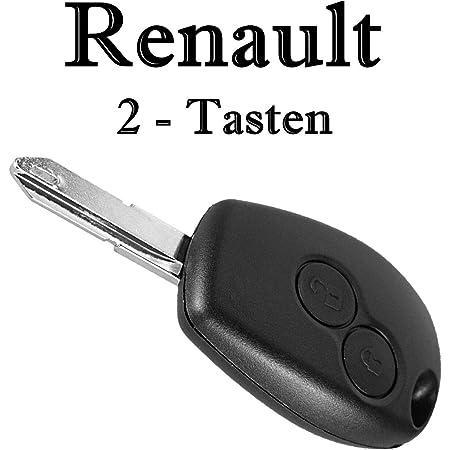 Ersatz Schlüsselgehäuse Mit 2 Tasten Autoschlüssel Schlüssel Mit Rohling Fernbedienung Funkschlüssel Gehäuse Ohne Elektronik Renault05 Auto