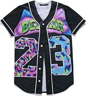 HOP FASHION Unisex Baseball Jersey Short Sleeve 3D Print Tees