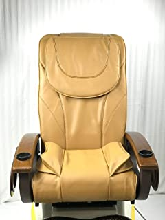 Pedicure Chair Back Support/Bottom-Air Seat Cover Cushion Set Type C2/Cappuccino Color