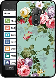 Linkertech Jitterbug Smart 2 Case, Slim Silicone Gel Soft TPU Bumper Durable Flex and Easy Grip Case for Jitterbug Smart2 (Peony)
