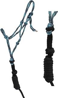CHALLENGER Nylon Horse Nylon Braided Rope Noseband Halter w/Lead Rope 606RT35