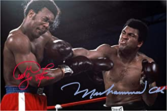Good With Wood Yorkshire Rumble in The Jungle 30 October 1974 Ali & Foreman 3 Reproduction Autograph photogragh Picture Poster A4 Print(Unframed)