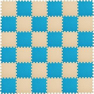 Children Play Mat, FOME 36 Tiles with Borders 0.39in EVA Foam Mat Non-Toxic Children Exercise Mat Foam Floor Mats Foam Puzzle Mat Interlocking Tiles Easy to Clean for Kids Toddler 11.8X11.8in