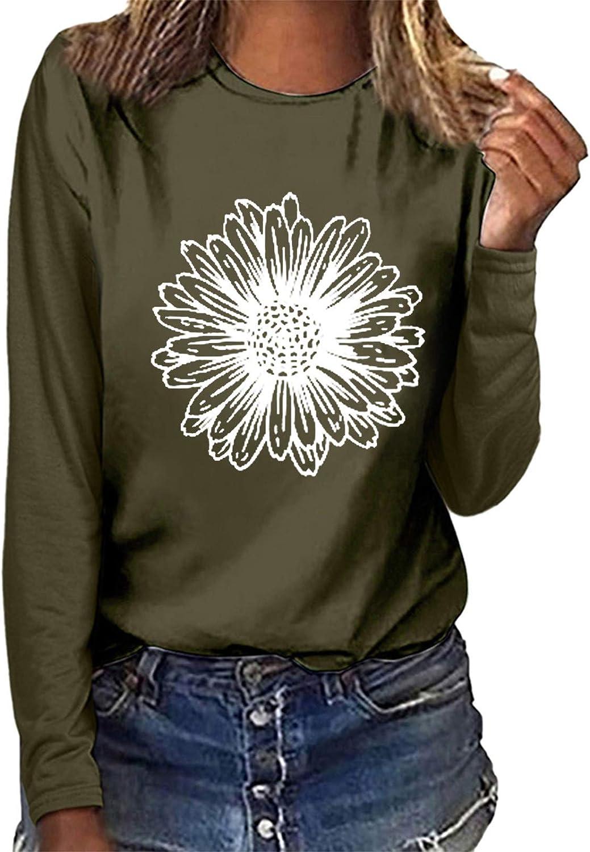 POLLYANNA KEONG Womens Long Sleeve Knit Tops,Women Causal Crewneck Pullover Long Sleeve Sweatshirts Vintage Shirts Tops