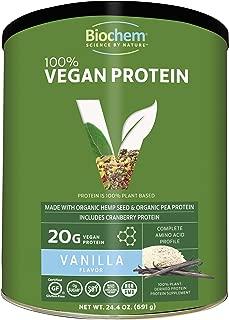 Biochem 100% Organic Plant Protein - Vanilla Flavor - 24.4 oz