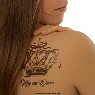 QS-C030 Kronenset als kleurrijke body, tijdelijke fake tattoo, 3 stuks