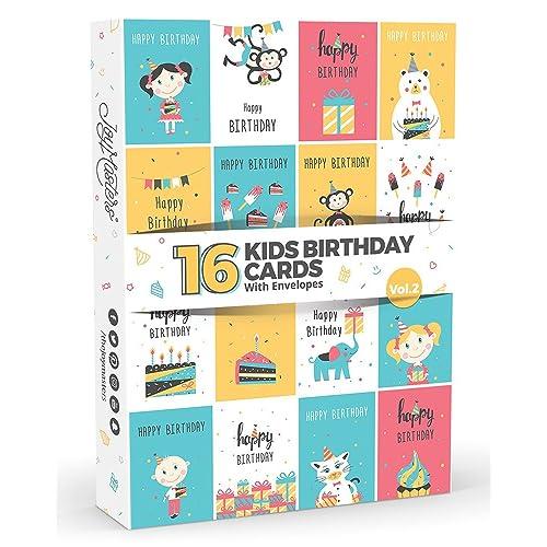 16 X Childrens KIDS Birthday Cards By Joy MastersTM Vol2