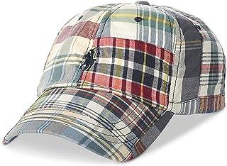 قبعة Polo Ralph Lauren Patchwork Madras للبيسبول للرجال، أزرق