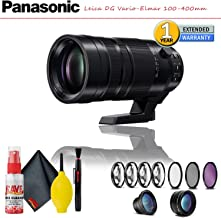 Panasonic Leica DG Vario-Elmar 100-400mm f/4-6.3 ASPH. Power O.I.S. Lens with Complete Filter Kit, Cleaning Kit and 1-Year Extended Warranty
