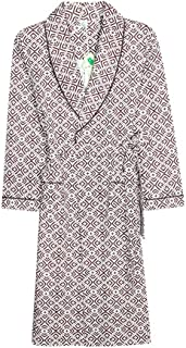 メンズパジャマ100%コットン春と秋冬の薄いセクションの長いナイトガウン大サイズのバスローブ (色 : Brown, サイズ さいず : L l)