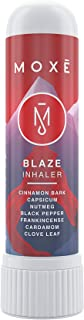 MOXE Blaze - Relaxing Aromatherapy Nasal Inhaler - Relieve Stress and Anxiety - Soothing & Warming Nose Sinus Blaster - Includes Cinnamon, Nutmeg, Clove & Frankincense Essential Oils (Single)