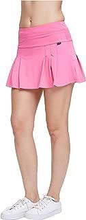 EZ-Joyce Women's Pleated Athletic Skort Tennis&Golf Active Skirt Pockets Built in Shorts