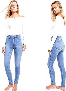 Womens Denim Low-Rise Jeans