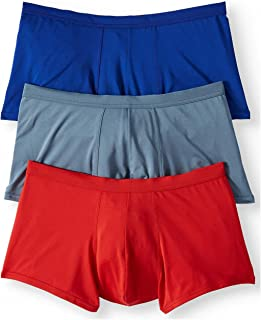 Life 3-Pack Men's Microfiber Stretch Trunk Briefs - Assorted Solids