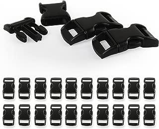 50 mini fibbie sagomate in plastica a rilascio laterale da 0,95 cm per braccialetti in paracord bushcraft accessori per zaini cinghie collare per cani tenda.
