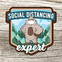 Social Distancing Bigfoot | Sasquatch Sticker for Hydroflask | Donation to Idaho Food Bank | Coronavirus Sticker | COVID-19 Sasquatch Expert Decal