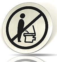 Kerafactum Wc-bordje zittend plassen Gelieve te plaatsen toiletinstructie instructiebord deurbordje toiletten rond van roe...