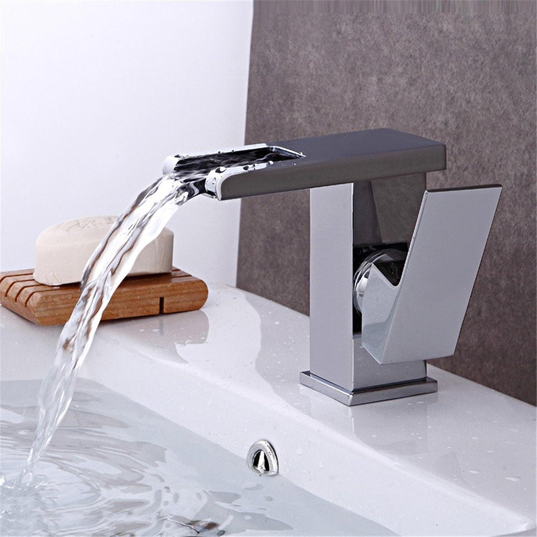 ETERNAL QUALITY Bad Waschbecken Wasserhahn Küche Waschbecken Wasserhahn Kupferner Heier Und Kalter Bühnenbeckenwasserfall Waschtischmischer BQ848ca