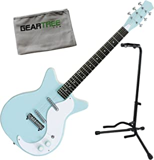Danelectro 59M-NOS+ Double Cutaway Electric Guitar Aqua w/Stand and Geartree Cl