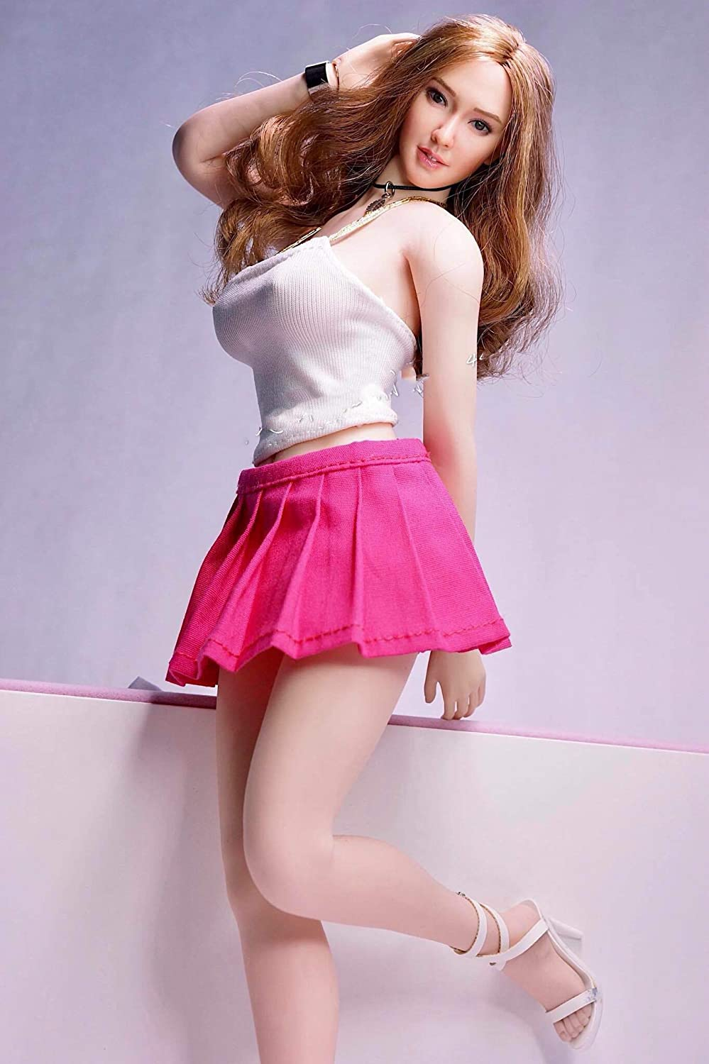 Details about  /1//6 Female Black Backless Hip Skirt Clothes Fit 12/'/' Phicen Big Bust Body