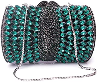 Fashion Women's Fashion Diamond Bag/Evening Bag/Banquet Clutch/Diagonal Package (Color : Green)