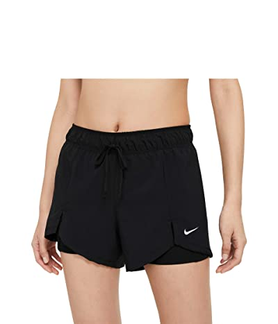 Nike Flex Essential 2-in-1 Shorts (Black/Black/White) Women