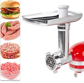 X Home Meat Grinder Attachment for KitchenAid Stand Mixer, Metal Food Grinder Attachments with Sausage Stuffer Kit, Durable Multi-function, Making for Burger, Meatballs