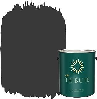 KILZ TRIBUTE Interior Matte Paint and Primer in One, 1 Gallon, Mystic Black (TB-39)