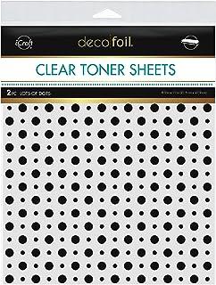 "Deco Foil Clear Toner Sheets 8.5""x 11"" 2 Pack - Lots of Dots"