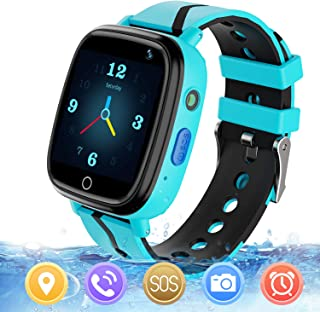 MeritSoar Kids Smart Watch with GPS Tracker SOS Camera Game 1.44 inch Touch Screen Sport Smartwatch Camera Cell Phone Girls Boys for iOS & Android (Q11 Blue)