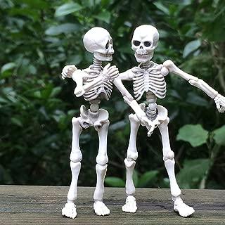Kalttoyi Movable Mr. Bones Skeleton Human Model Skull Full Body Mini Figure Toy Halloween