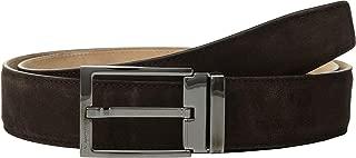 Salvatore Ferragamo Men's Adjustable Square Buckle Dress Brown 32