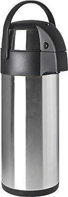 Focus Foodservice 908840PB Stainless Steel Vacuum Insulated Push Button Airpot, 4.2-Quart