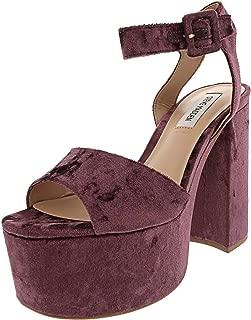 Steve Madden Women's Soar Velvet Ankle-High Fabric Heel