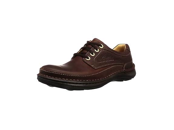 TALLA 46 EU. Clarks Nature Three, Zapatos de Cordones Derby Hombre