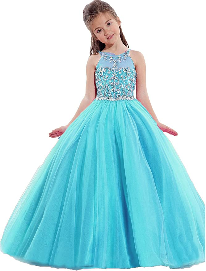 Hot girls in quiceneiera Amazon Com Little Girls Princess Birthday Party Ball Gowns Cute Puffy Beaded Kids Quinceanera Pageant Dress 054 Clothing Shoes Jewelry