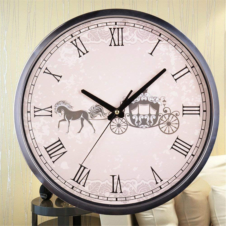 precios razonables Oudan Reloj de Parojo Sin marcar Número Número Número Cuarzo Reloj de Parojo Salón Decorativo Interior Reloj Dormitorio Reloj Cocina Acero Inoxidable Mutei rojoondo, 35  35 cm (Color   A 35  35cm)  lo último