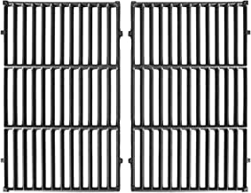 Hongso 7524 Cast Iron Cooking Grid Grates Replacement for Weber Genesis E/S, 300 Series Gas Grill 7528, (19.5
