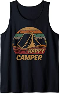 Camping Gifts Happy Camper Campsite Scout Lovers Camp Tank Top