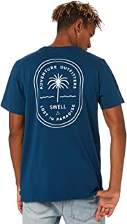 Swell Men's Sheltered Tee Short Sleeve Cotton Blue