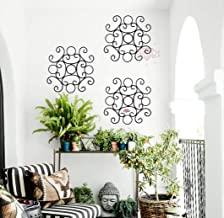 NAYAB 1 Piece Small Black Iron Scrolled Garden Decorative Wall Art Hanging Sculpture Home and Outdoor Decoration