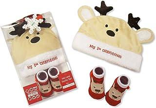 nursery, Reno del bebé Primera Navidad sombrero y calcetines Set Regalo 0/12Meses En Caja