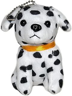 Lucore 4 Inch Dalmatian Puppy Dog Plush Stuffed Animal Toy Keychain - Hanging Doll Lucky Charm