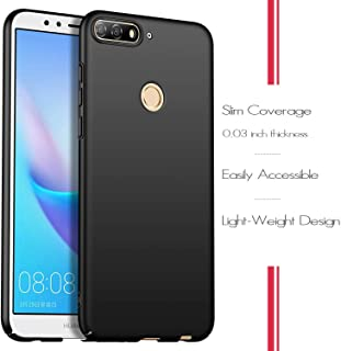 Wuzixi Case for Huawei Y6 2018/Honor 7A. Resilient Shock Absorption and Ultra Thin Design Cover, Rubberized Hard PC Back C...
