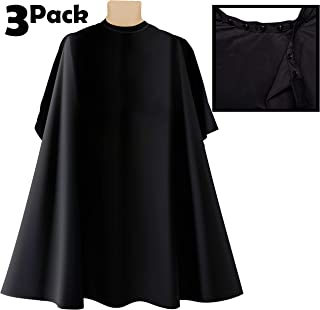 3 Pk Professional Salon Cape, Nylon Cape With Snap Closures Barber Cape, or Hair Cutting Cape 50 x 60 in