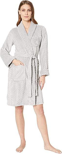 Short Shawl Collar Sculpted Robe