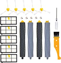 DerBlue Replacement Parts for iRobot Roomba 860 880 805 860 980 960 Vacuums, with 5 Pcs Hepa Filter, 5 Pcs 3-ArmedSide Brush, 2 Set Tangle-Free Debris Rollers,1 Small Brush, 1 Screwdriver