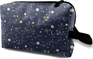 Cosmos Design Space And Stars Travel Makeup Cute Cosmetic Case Organizer Portable Storage Bag for Women