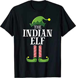Indian Elf Matching Family Group Christmas Party Pajama T-Shirt