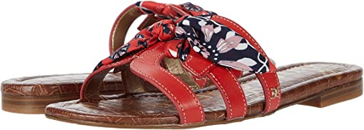 Cherry Se/Cherry Multi Vaquero Saddle Leather/Floral Scarf Print